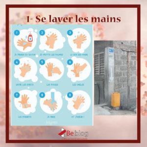 Procédure de lavage des mains